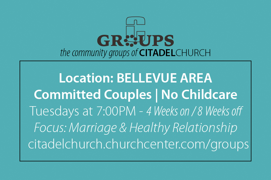 Couples Group | Bellevue Area - Every Tuesday 7:00PM - No Childcare | 4 Weeks On/8 Weeks Off